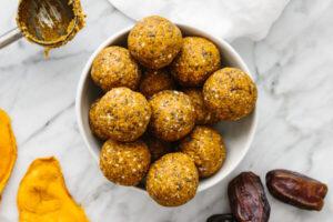 Mango Date Energy Balls